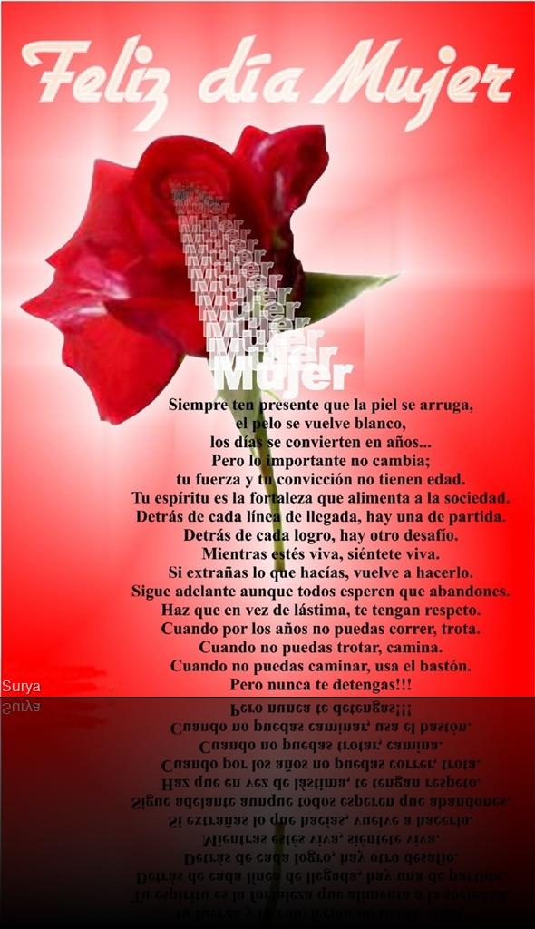 Poema para el dia de la mujer - Poemas De Una Mujer, Un